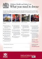 Health and Safety Law Poster Offshore Installations